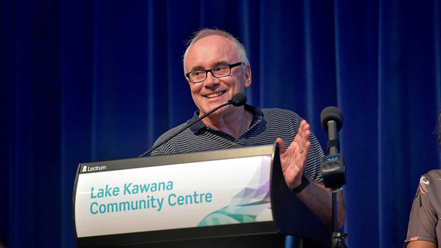 Sunshine Coast Community Parking Workshop held at the Lake Kawana Community Centre. Greg Smith raises concerns in his area.