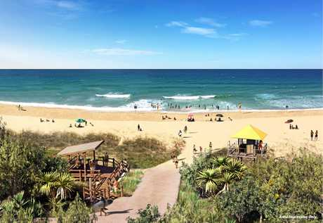 An artist's impression shows plans for a new beach access at Bokarina.
