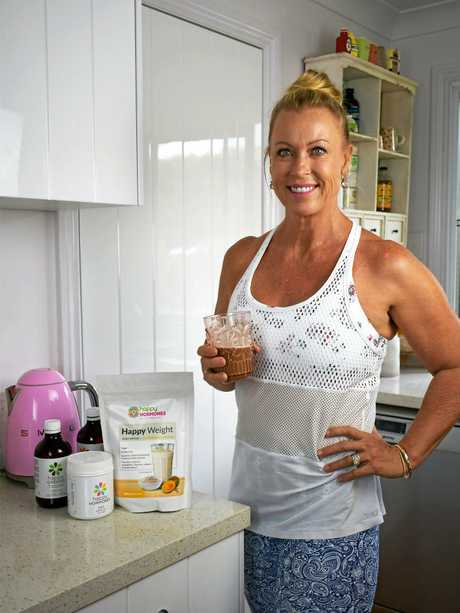 Lisa Curry with her new diet range.