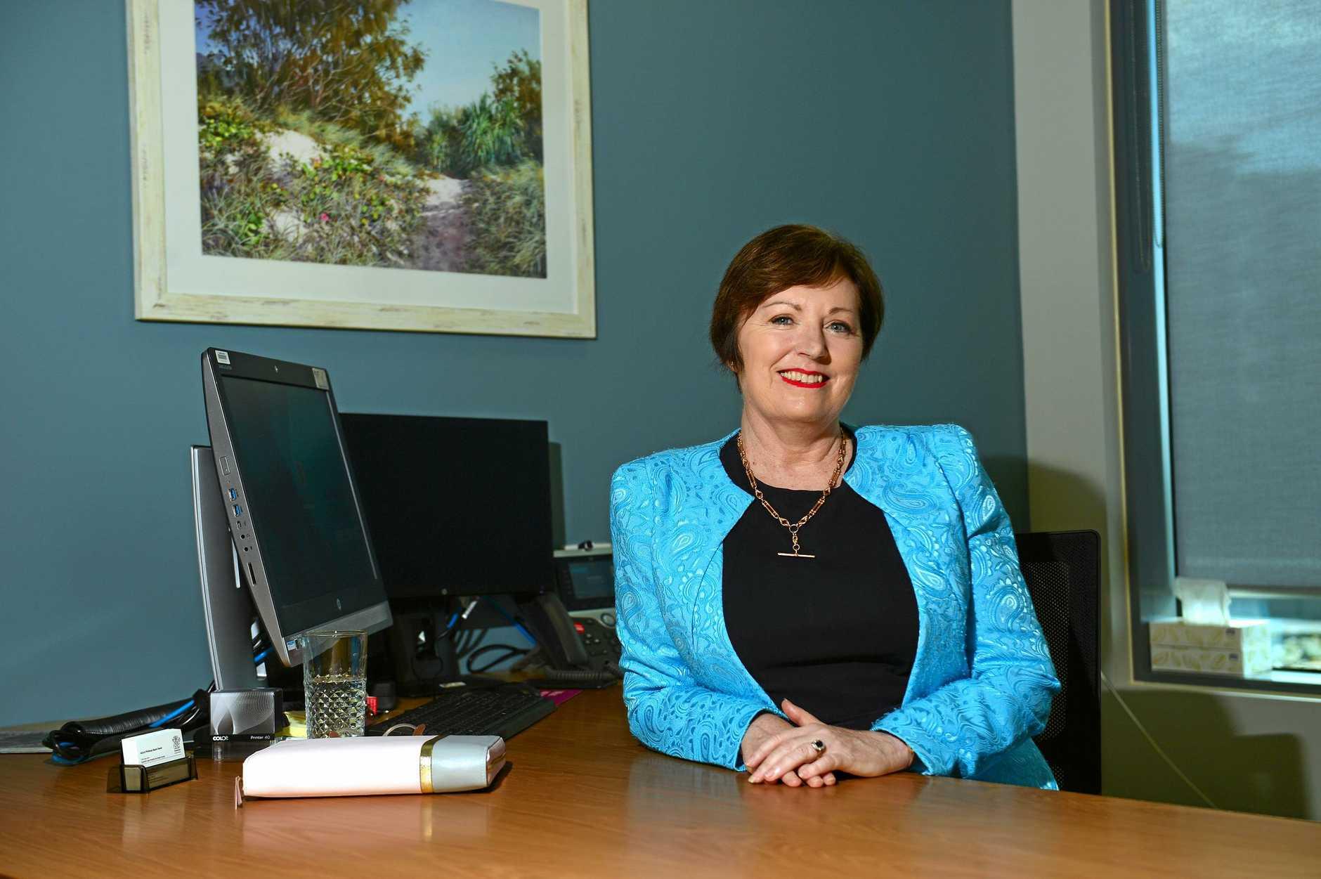 Chief Executive Sunshine Coast Health Service, Adjunct Professor Naomi Dwyer at the Sunshine Coast Univerity Hospital.