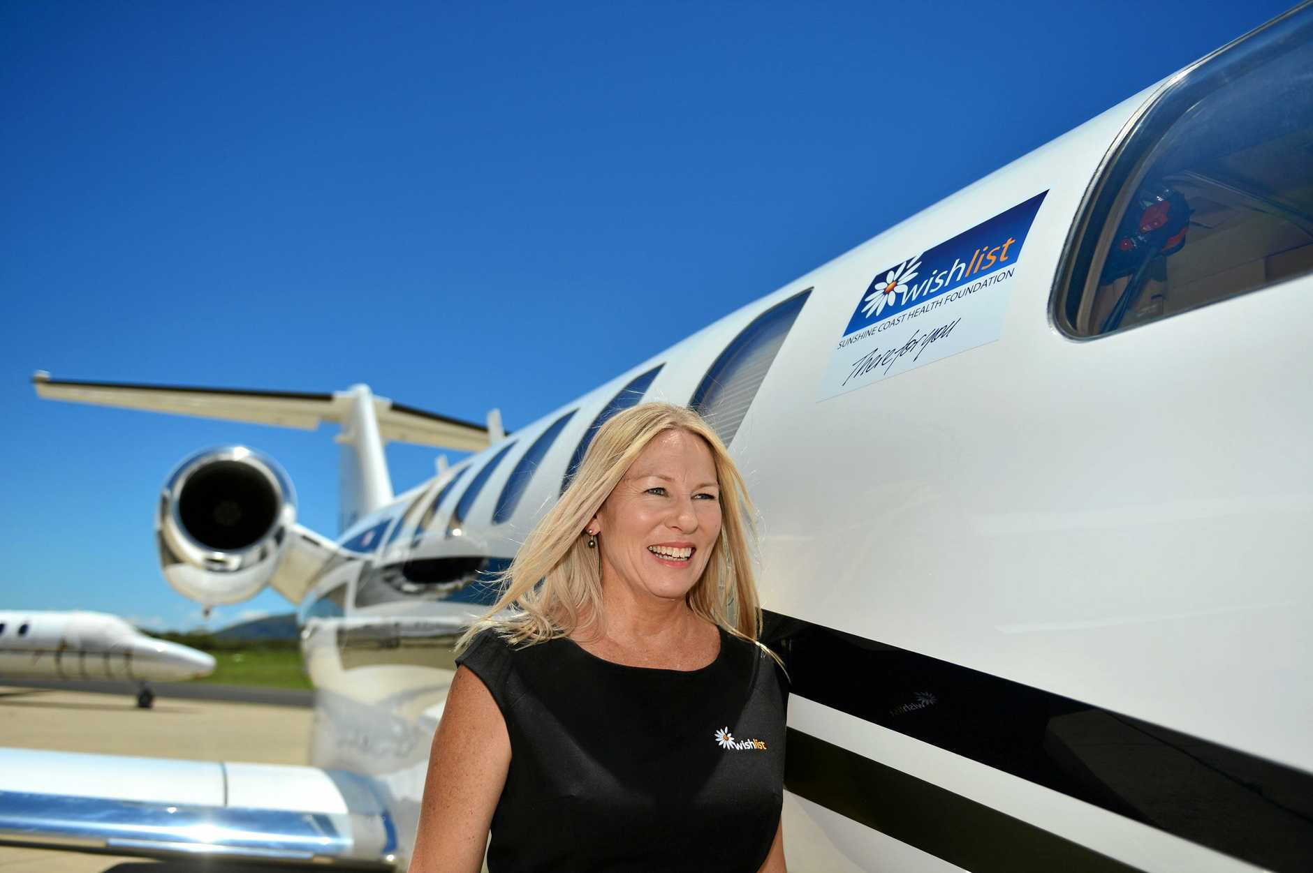 Sunshine Coast Charity Wishlist CEO Lisa Rowe is happy to have  formed a partnership with McDermott Aviation to help the community.