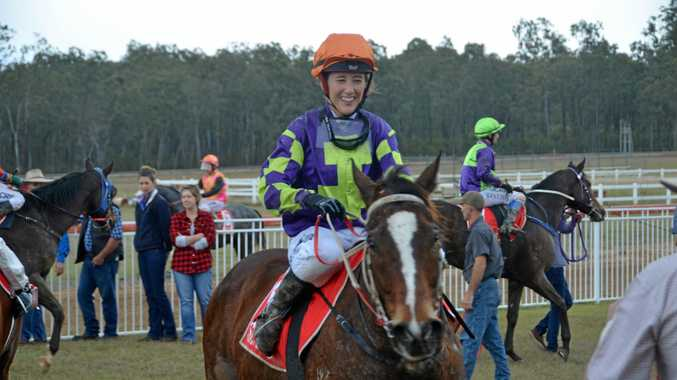 Apprentice Hannah Phillips partners Toowoomba eight-year-old Hard Stride in tomorrow's Dalby Newmarket at Bunya Park.