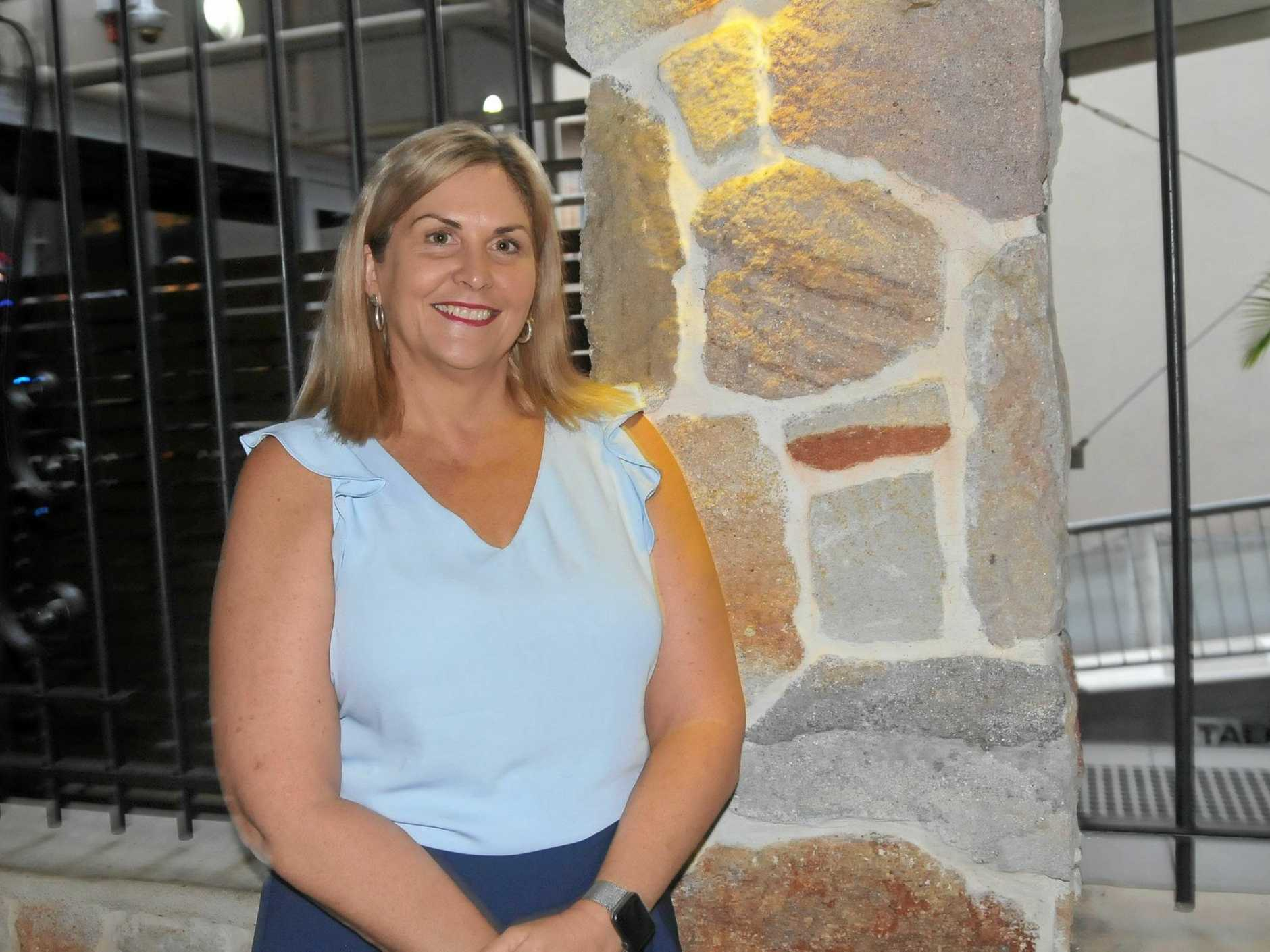 Jellina White celebrates 10 years at the top of Gympie's Bank of Queensland.