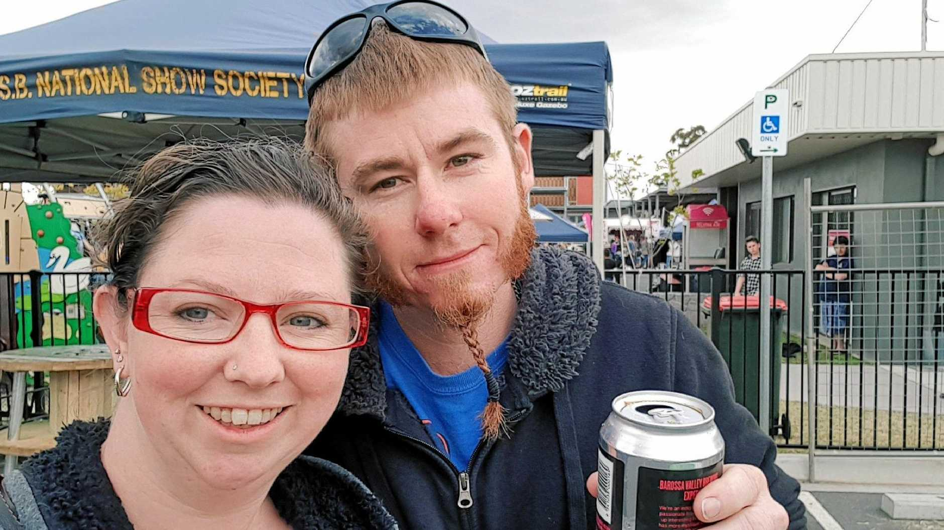 SIZZLING FANS: Jodie and Liam Warren moved to the South Burnett after they went along to the 2018 BaconFest food festival.