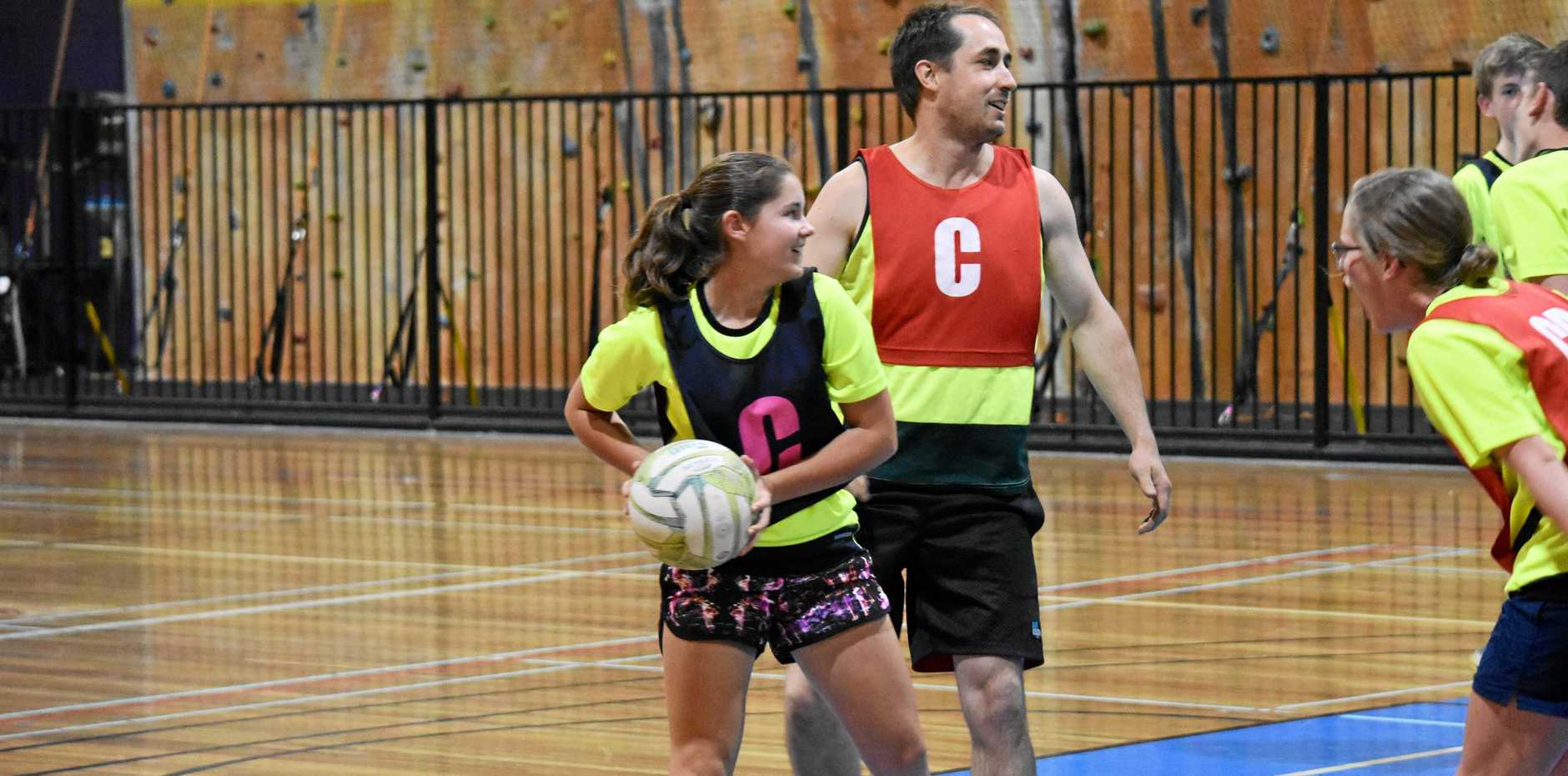 CENTRE COURT: Sophie Waples, pictured in mixed netball at WIRAC, was one of the stars in this week's ladies' round.