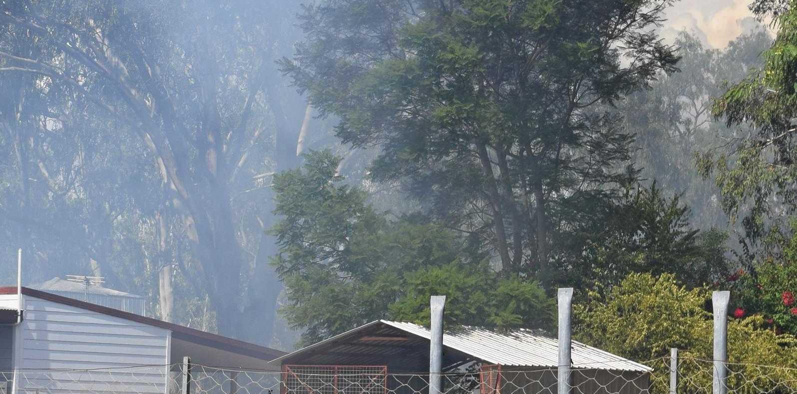 Fire at 2A Edward Street, Chinchilla.