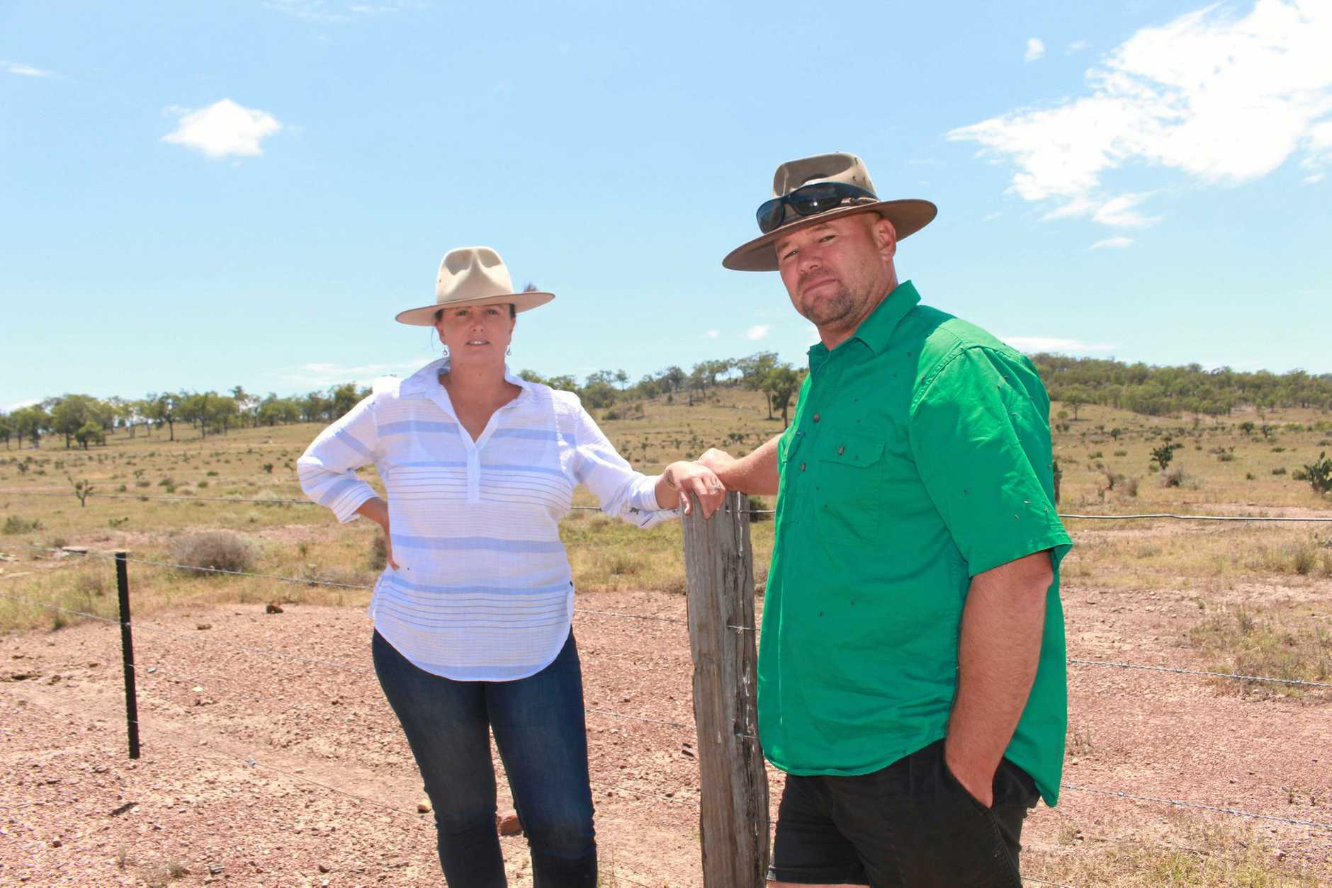 FRONT LINE: Beef farmers Cynthia and Jamie McDonald have been at the centre of drought relief efforts across the Southern Downs.