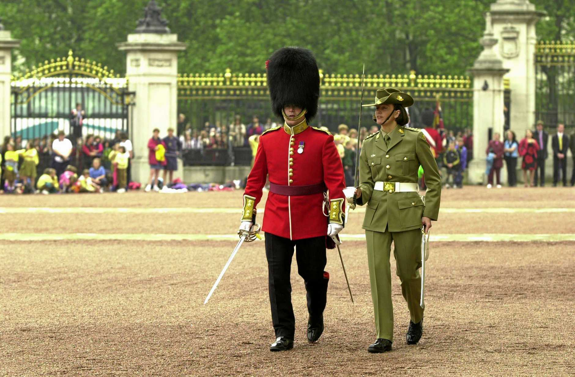 In 2000 Cynthia McDonald was part of the first group of women to guard Buckingham Palace and had the honour of leading the contingent.
