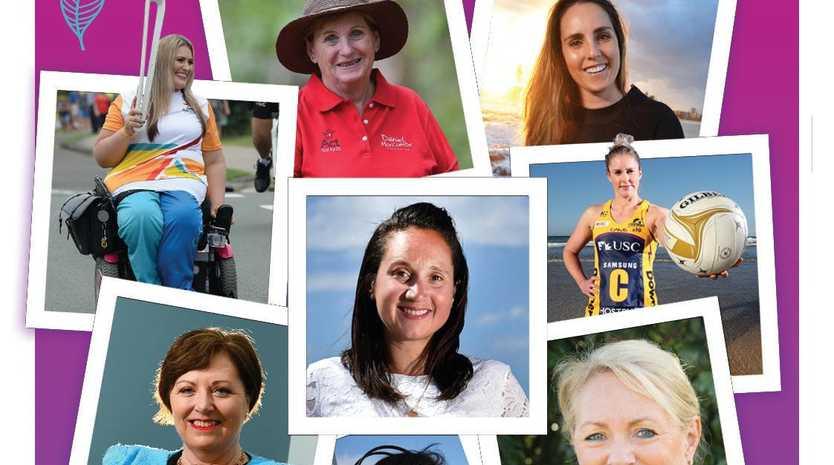 OUR AMAZING WOMEN: Clockwise from left: Marayke Jonkers, Denise Morcombe, Steph Gabriel, Laura Sheridan, Debbie Platz, Caroline Hutchinson, Naomi Dwyer and Millie Thomas.