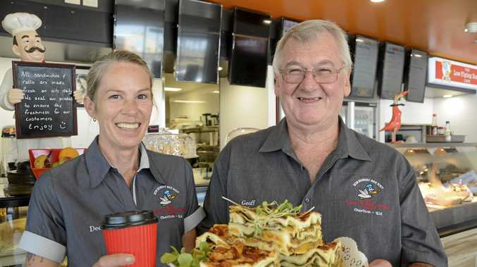 HUNGRY FOR CHANGE: Owners of the Low Flying Duck Cafe, Geoff and Dee Pevitt, have resurrected the truck stop at Charlton after the sudden exit of previous tenant, employing six people in the process.