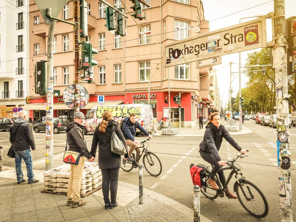 Hire a bike for the cruisy way to see Berlin.