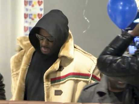 R. Kelly headed straight to a Chicago McDonald's after he posted bail. Picture: AP
