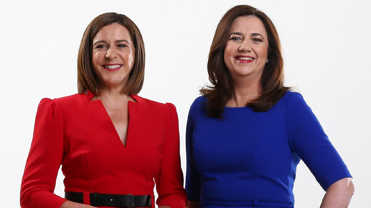 Premier Annastacia Palaszczuk (right) with Opposition Leader Deb Frecklington. Picture: Adam Head