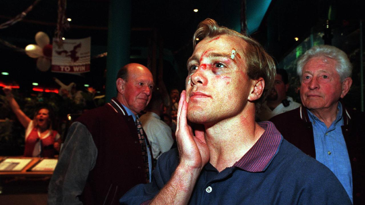 Geoff Toovey copped a battering in the losing 1997 grand final.