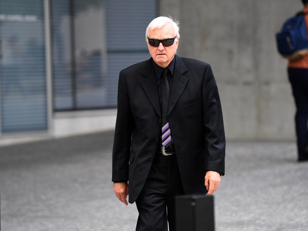 Malcolm Stewart gave evidence in the trial of his ex-wife Theresa Dalton who is accused of being involved in ordering a hit on him in 2010. Picture: AAP Image/Dan Peled