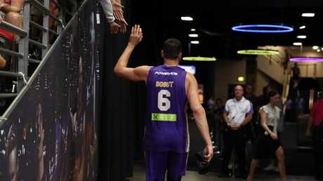 He'll be back... Bogut will still return to the Kings next season. Picture: Brett Costello