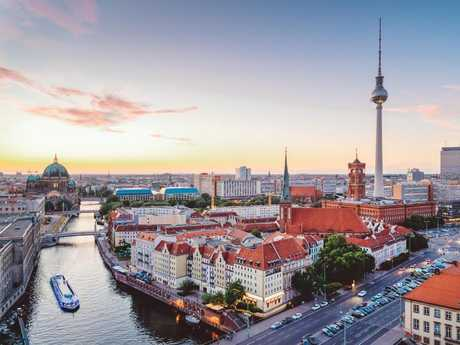 Berlin's TV Tower is the focal point of the city skyline.
