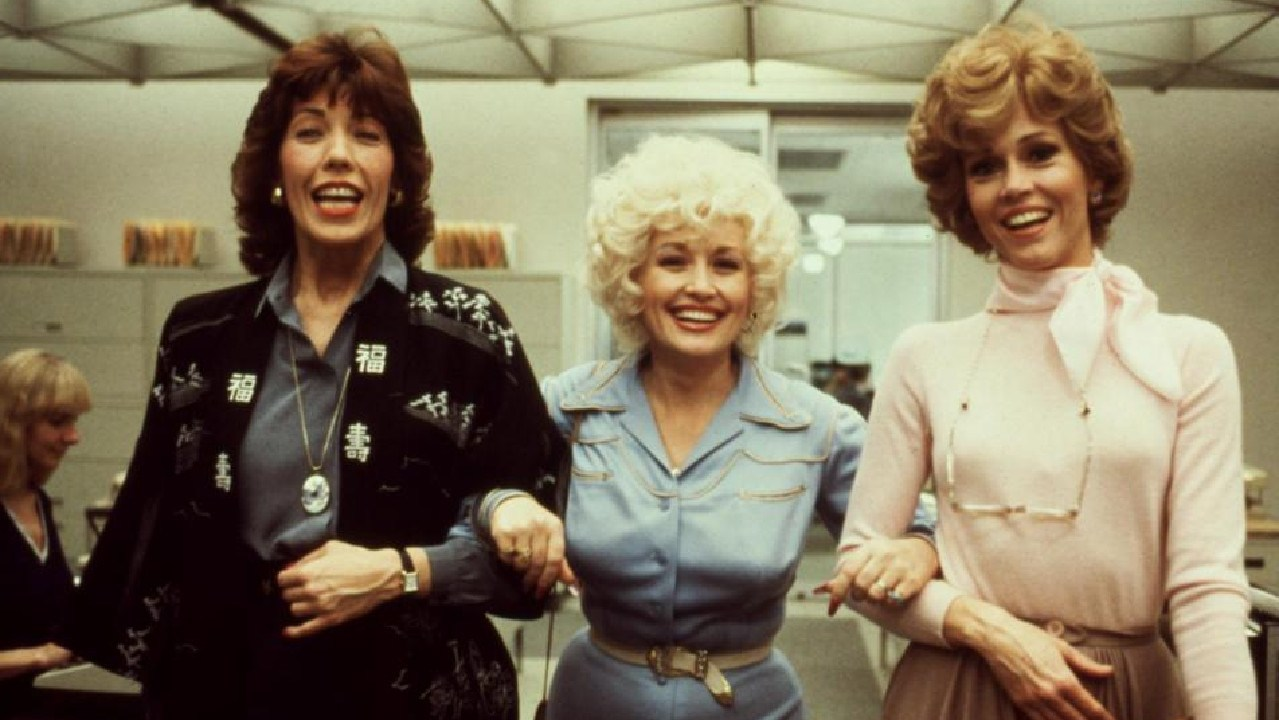 The 1980 film 9 to 5, starring Lily Tomlin, Dolly Parton, and Jane Fonda is a feminist classic. Picture: Supplied