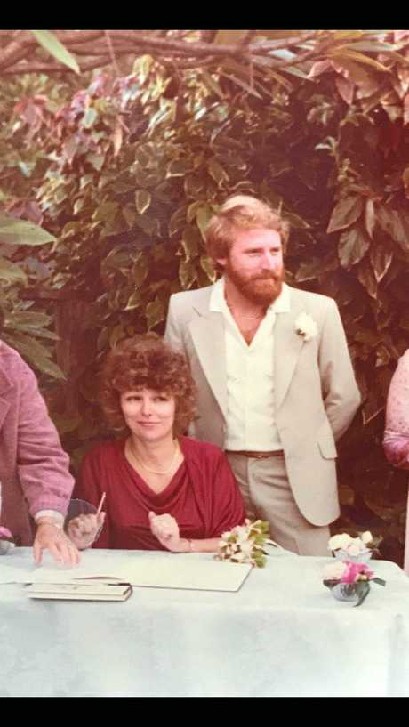 Nick and Gerry Clatworthy on their wedding day in 1981.