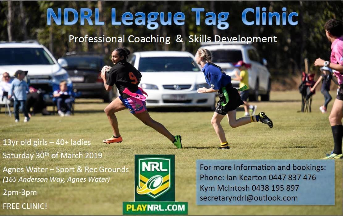 Women's League Tag clinic flyer