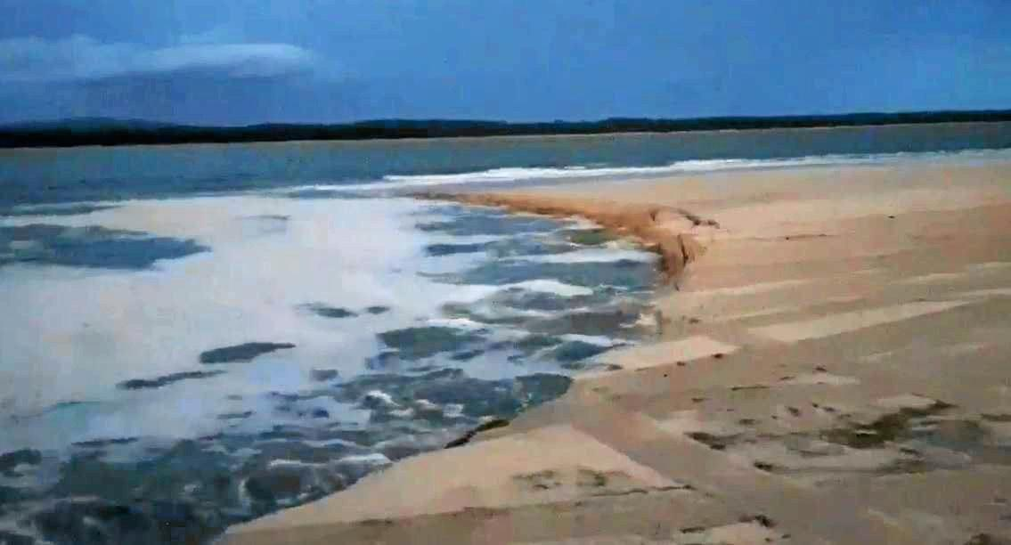 'SINK HOLE' MARCH 2019: Another landslip opened at Inskip Point on Thursday night.