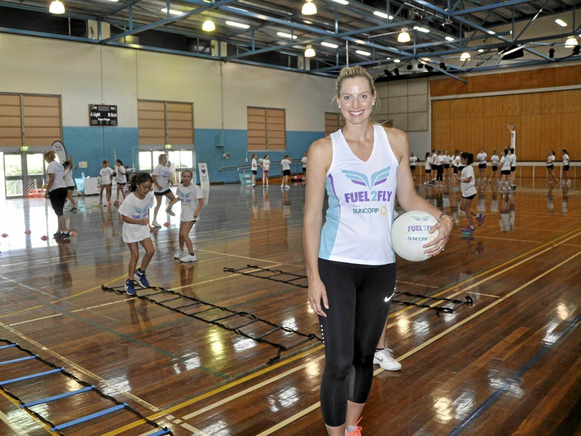 Former Queensland and Australian netball star Laura Geitz.