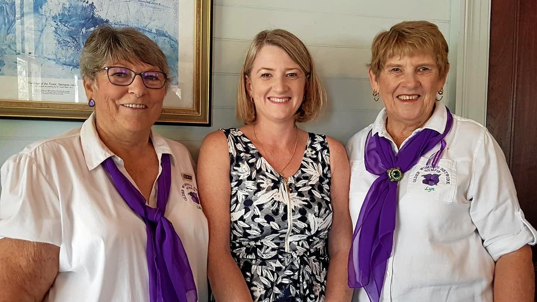 Cathy Elliott, Sharon O'Brien, Lyn Day