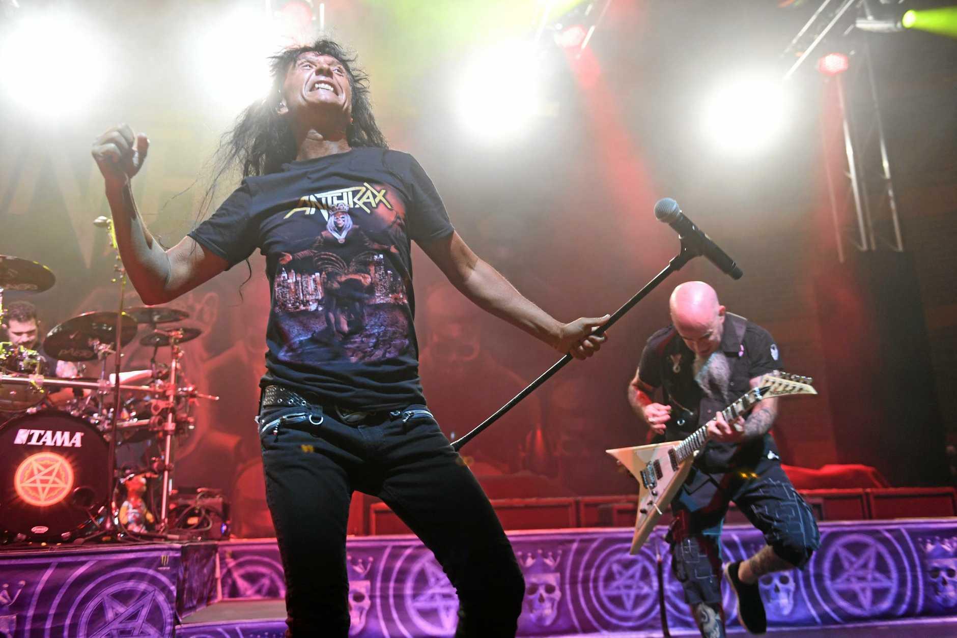 Anthrax support Slayer at Riverstage in Brisbane.
