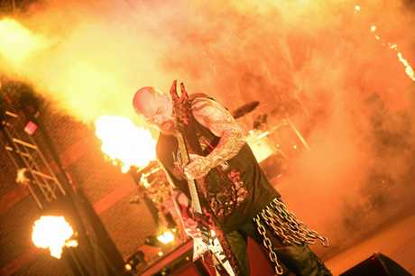 Slayer play Riverstage in Brisbane on their farewell world tour.