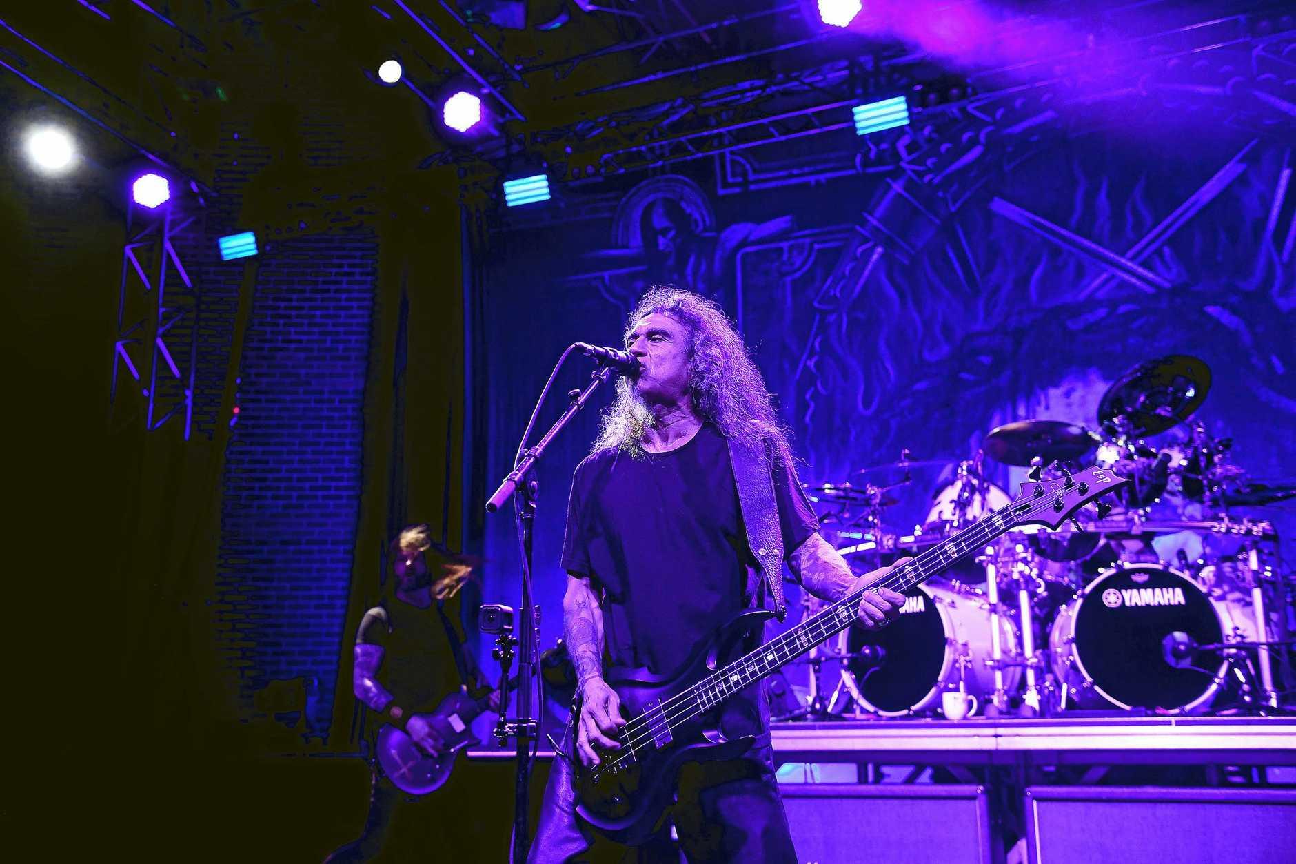 Slayer play Riverstage in Brisbane on their farewell world tour.