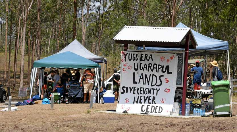 REMAIN: Protesters continue to camp at Deebing Creek Mission after a ceasefire between Indigenous elders and developers.