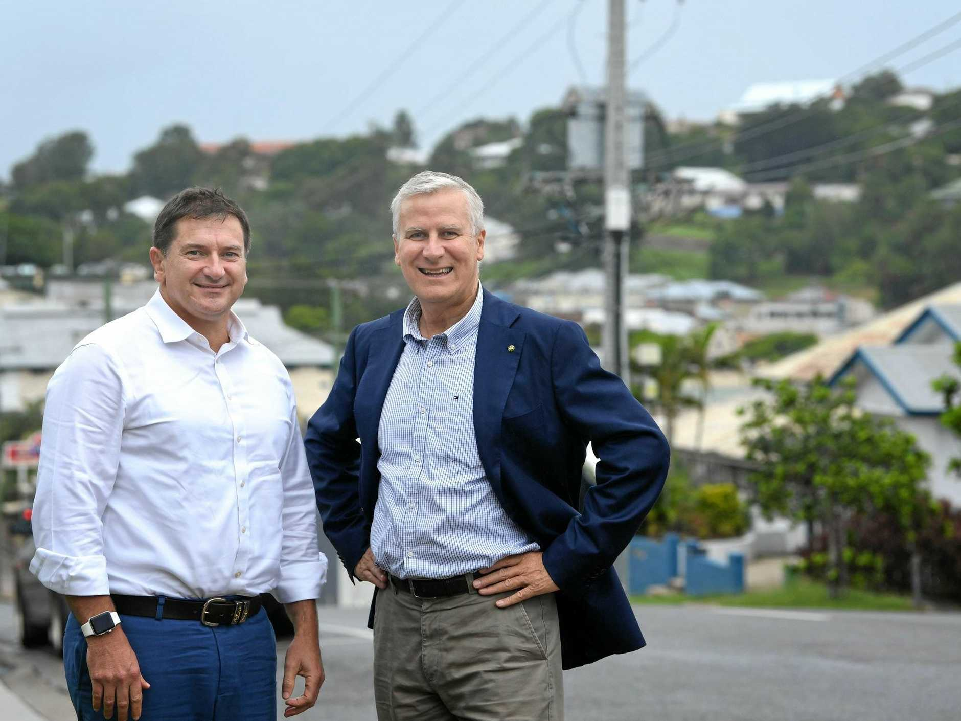 In Gympie Llew O'Brien and Minister Michael McCormack.