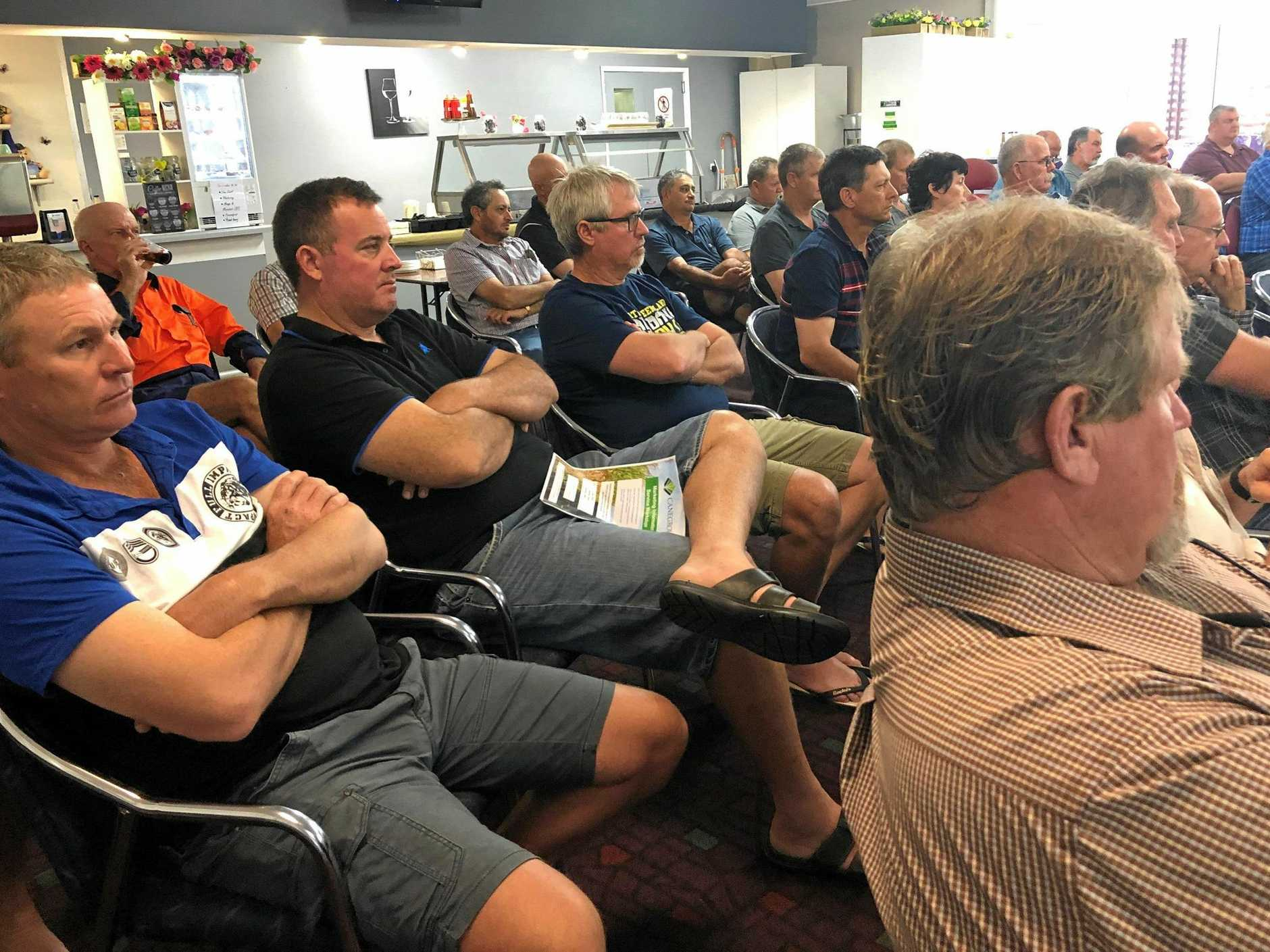 About 80 growers were at the Canegrowers Plane Creek Area Committee annual information meeting at Sarina RSL yesterday.