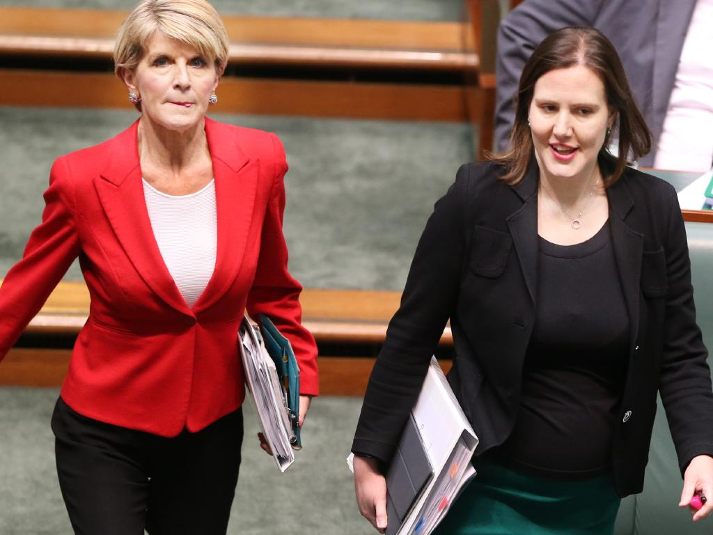 Julie Bishop and Kelly O'Dwyer are both leaving the federal Liberal Party. Picture: Gary Ramage
