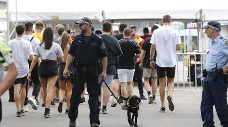 Police were out in force at the Hidden festival.