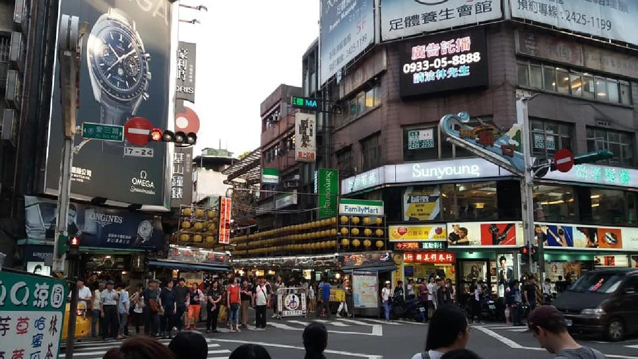 Nisar Haji's snap of downtown Taipei (Facebook image)