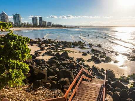 Greenmount Beach  on Queensland's Gold Coast is one of the nation's top spots.