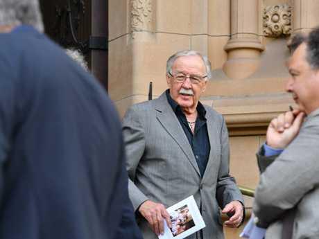 Television journalist George Negus arrives. Picture: AAP Image/Dean Lewins