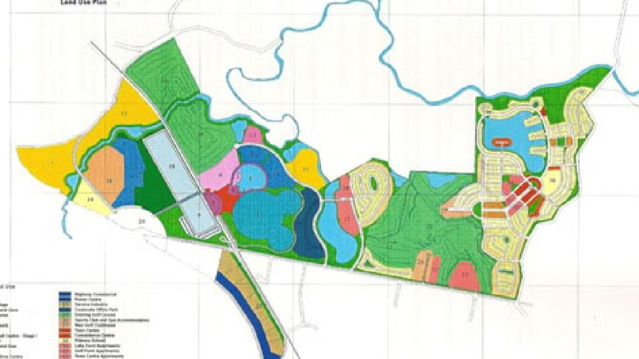 An overview of the Disney site at Coomera.