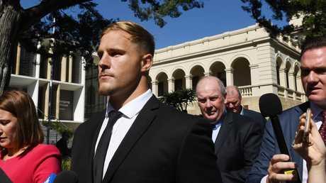 Jack de Belin leaves court last month. Picture: AAP Image/Dean Lewins