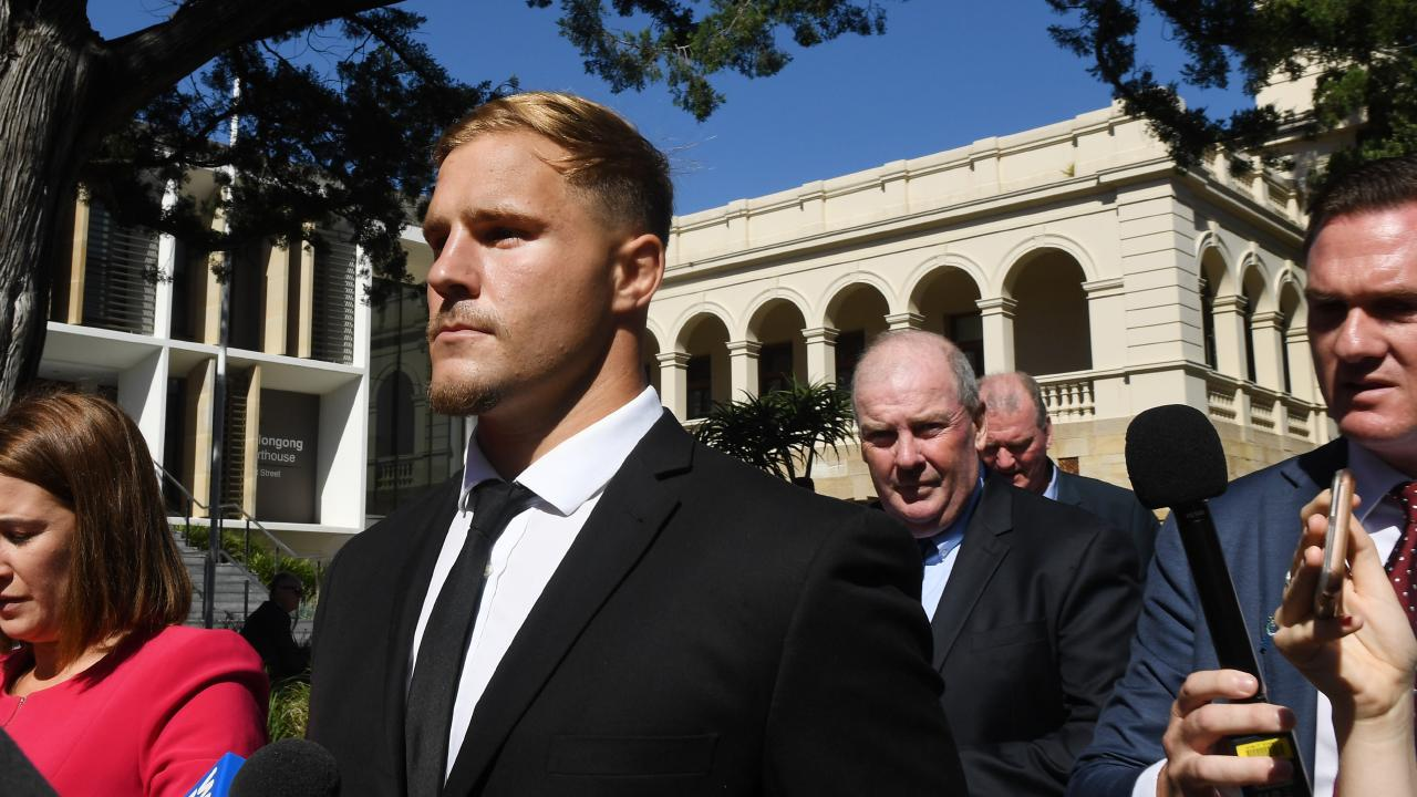 Jack de Belin leaves court last month. Picture: AAP Image/Dean Lewins