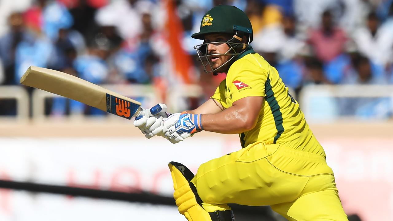Skipper Aaron Finch has returned to form. Picture: Dibyangshu Sarkar/AFP