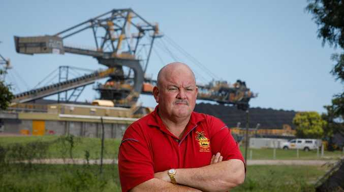 Whistsunday councillor Mike Brunker outside Adani's Abbot Point coal terminal - Photo: Cameron Laird