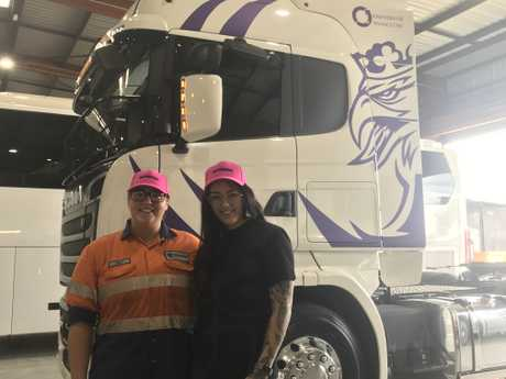 Jessie Woehrle and Shani Byrnes spoke to the students about how they began their careers in the transport industry.