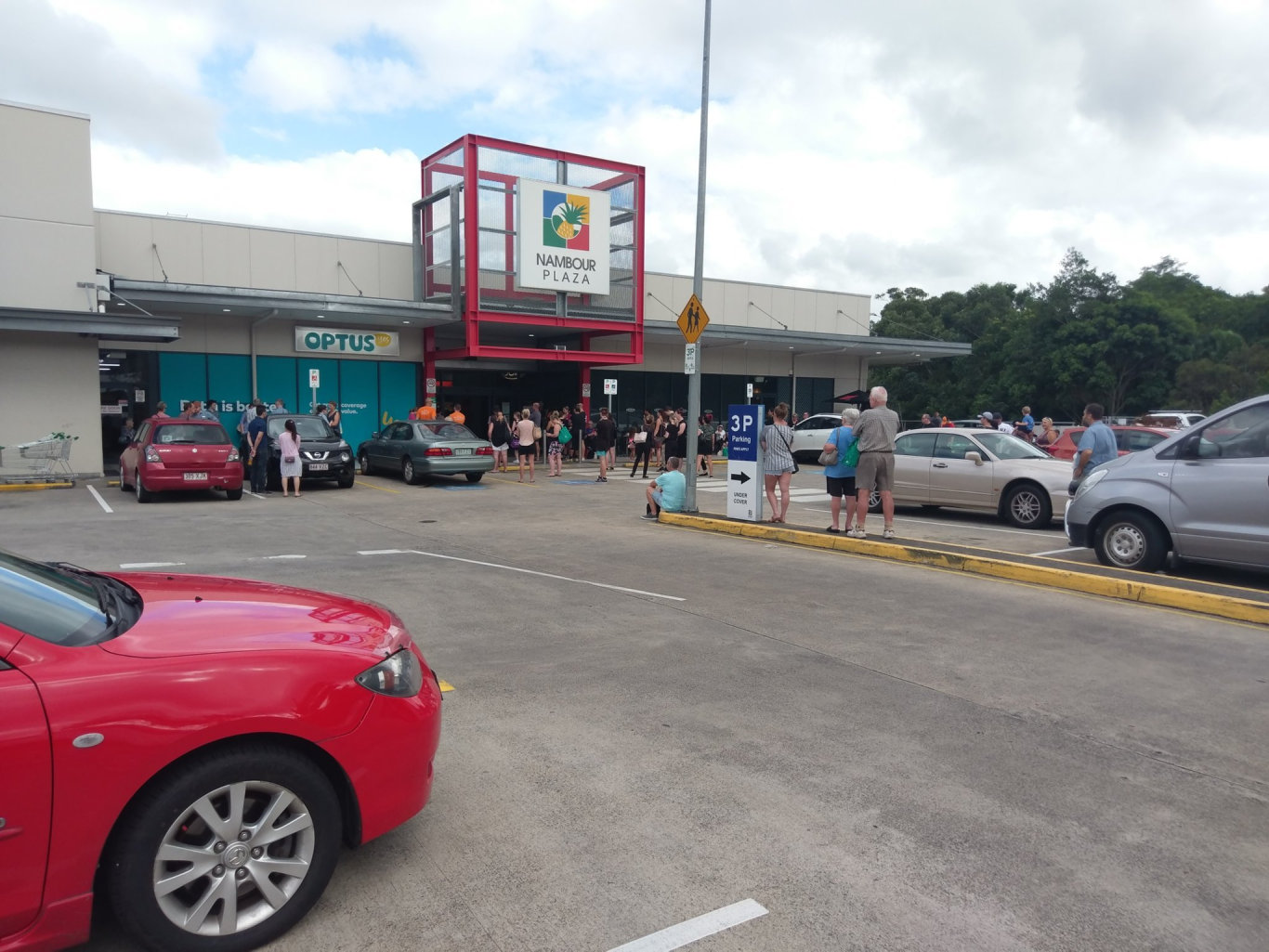 EVACUATION: Nambour Plaza was evacuated this morning after a fire alarm sounded.