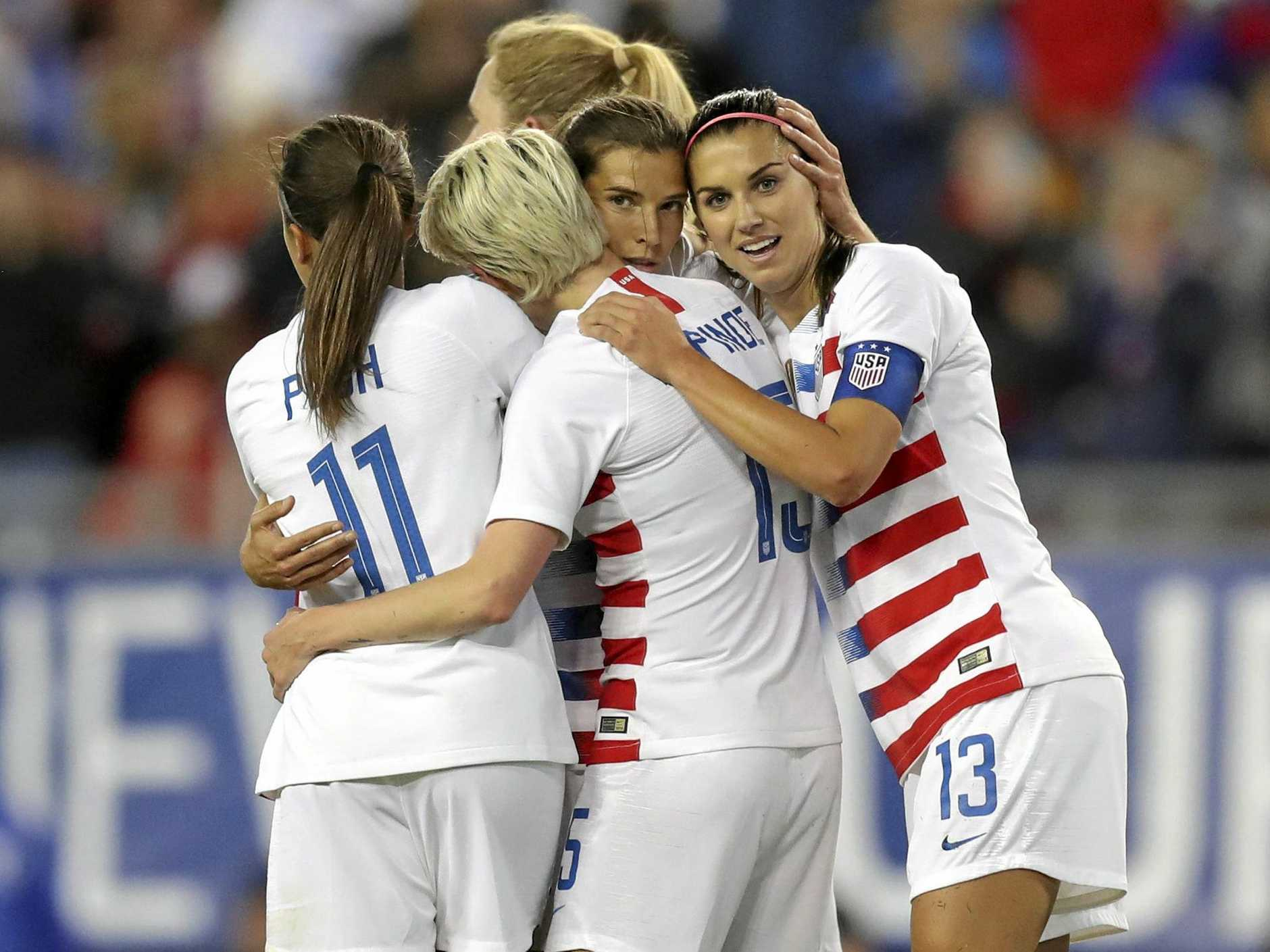 The US women's team are prepared to go to court in their battle for equal rights. Picture: Mike Carlson/AP
