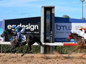 IN A FLASH: Favourite storms home to win Gympie feature race