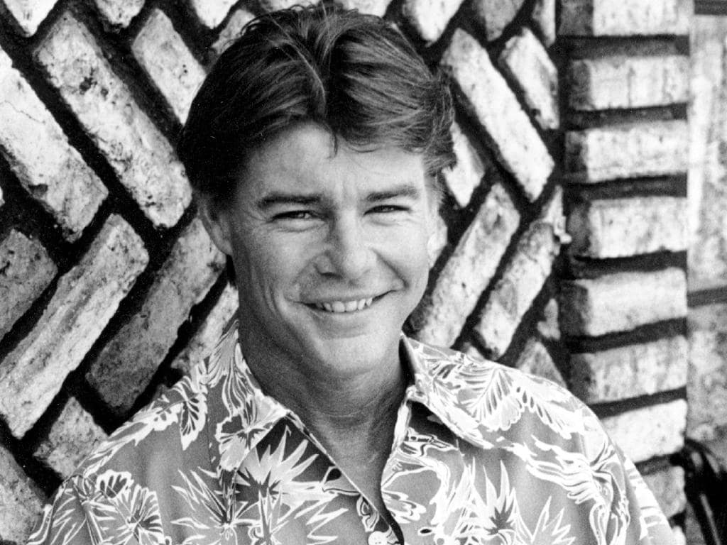 Jan-Michael Vincent poses during an interview in Hollywood back in 1984. Picture: AP