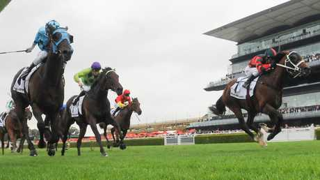 The Autumn Sun (right) is only just warming up, according to trainer Chris Waller. Picture: AAP