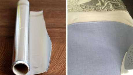 Tin foil ironing hack. Picutre: Josephine Agostino